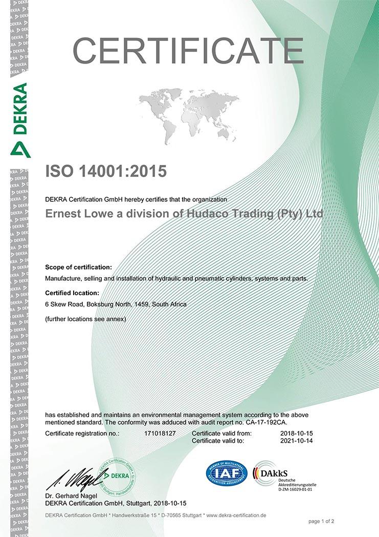 Ernest Lowe - ISO 14001-2015 Certificate-1