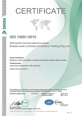 Ernest Lowe - ISO 14001-2015 Certificate - thumbnail