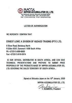 Ernest Lowe - Nacol Distribution Authorization - 2020-01-10 - thumbnail