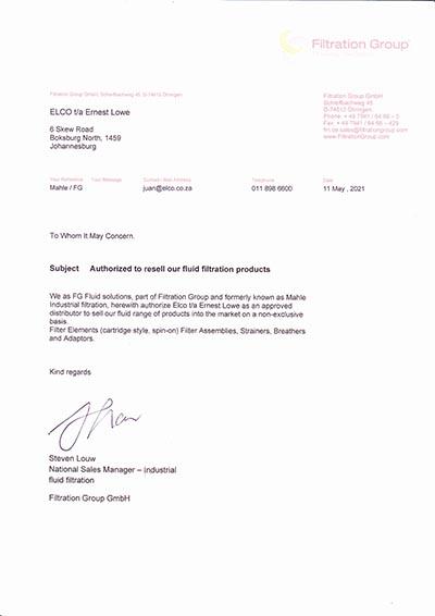 Ernest Lowe - FG Fluid Solutions Distribution Authorisation - 2020 - thumbnail
